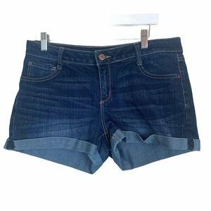 Arizona Dark Wash Cuffed Demin Jean Shorts Size 13